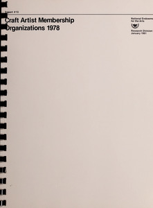 Craft artist membership organizations, 1978