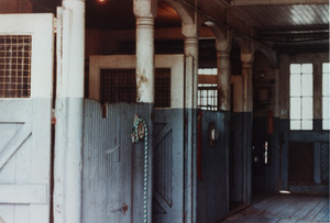 Queen Anne Horse Barn interior: horse stalls