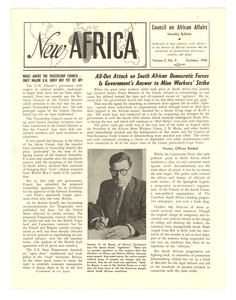New Africa volume 5, number 10