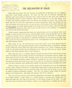 The Declaration of Peace