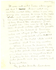 Letter from Ronald Joseph to unidentified correspondent