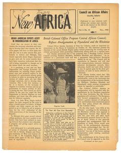 New Africa volume 3, number 10