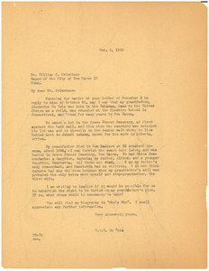 Letter from W. E. B. Du Bois to Mayor of New Haven