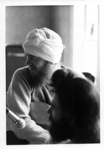 Livtar Singh Khalsa at the recording of 'Jewels from the East'