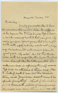 Letter from Louisa Gass to Sadie Kessel