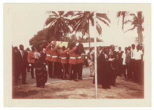 Ghanian soldiers carry the casket of W. E. B. Du Bois