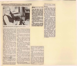 Scrapbooks of Althea Boxell (1/19/1910 - 10/4/1988), Book 9, Page115
