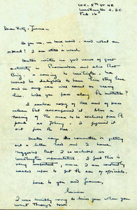 Letter form Miriam to Fritz and Jeanne Bultman