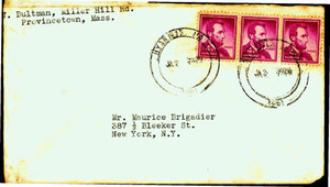Envelope from Jeanne Bultman to Maurice Brigadier