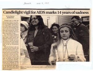 Candlelight Vigil for AIDS Marks 14 Years of Sadness, May 1997
