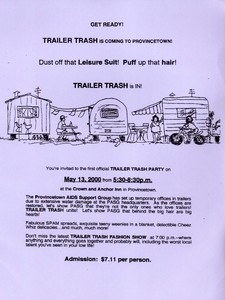 """Provincetown AIDS Support Group """"Trailor Trash Party"""""""