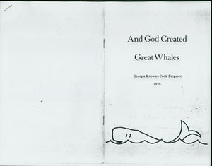 And God Created Great Whales, book, 1976