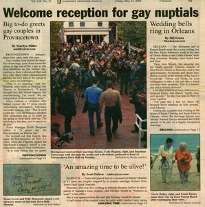 Welcome Reception for Gay Nuptuals