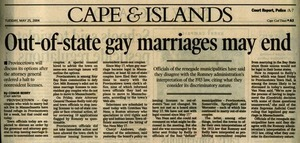 Out Of State Marriages May End