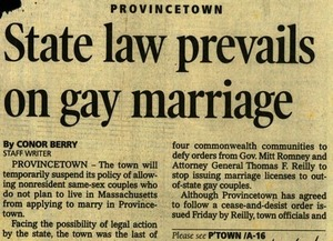 State Law Prevails On Gay Marriage