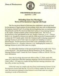 Defending Same Sex Marriages: Special Gift Fund