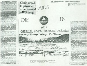 Die-In at Outer Cape Health Services 1988