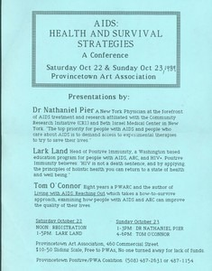AIDS Health and Survival Strategies 1989