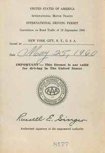 International Driving Permit of Jeanne Bultman