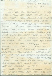 Letter from Dennis Meggs (July 12, 1976)
