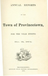Annual Town Report - 1874