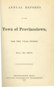 Annual Town Report - 1877