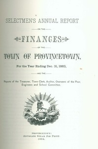 Annual Town Report - 1883