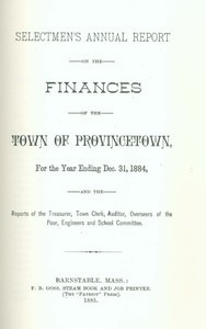 Annual Town Report - 1884