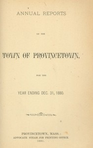 Annual Town Report - 1880