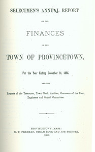 Annual Town Report - 1885