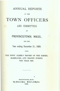 Annual Town Report - 1889