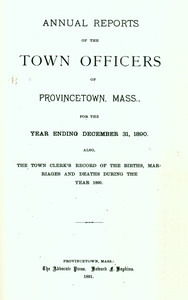 Annual Town Report - 1890