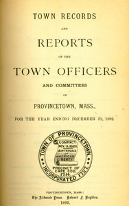 Annual Town Report - 1892