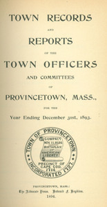Annual Town Report - 1893