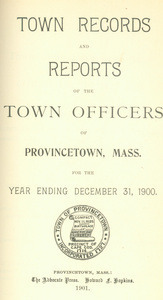 Annual Town Report - 1900