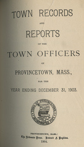 Annual Town Report - 1903