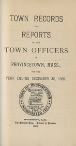 Annual Town Report - 1905