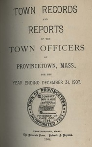 Annual Town Report - 1907