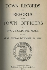 Annual Town Report - 1910
