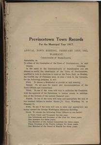 Annual Town Report - 1917