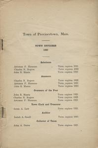 Annual Town Report - 1920