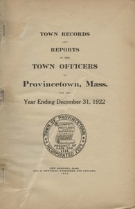 Annual Town Report - 1922