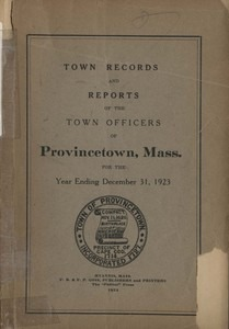Annual Town Report - 1923