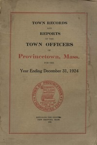 Annual Town Report - 1924