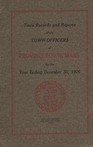 Annual Town Report - 1926