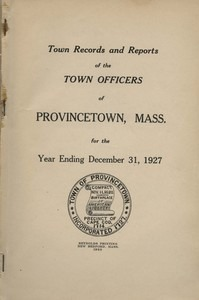 Annual Town Report - 1927