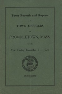 Provincetown Annual Town Report