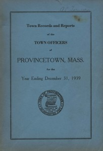 Annual Town Report - 1939