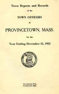 Annual Town Report - 1952