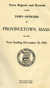Annual Town Report - 1953